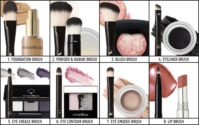 makeup brush differences